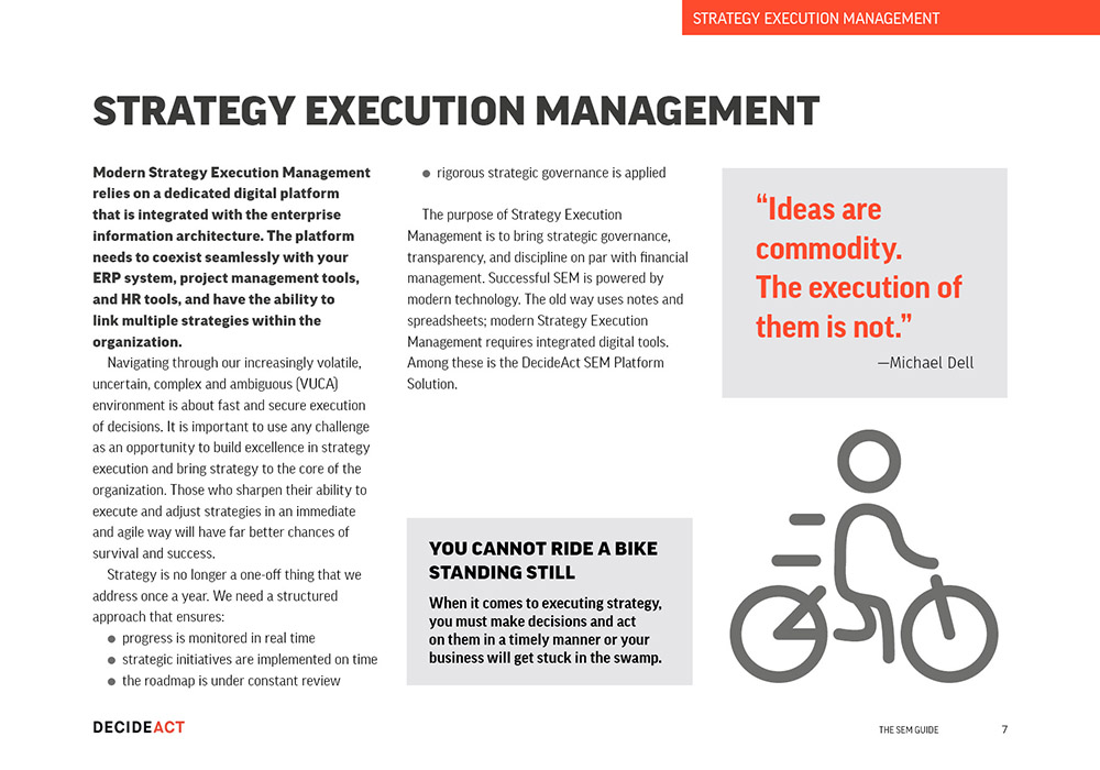 Strategy Execution management tools